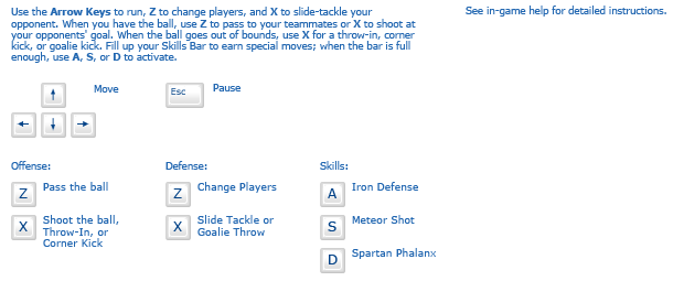 Super Soccer Strikers instructions